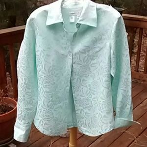 Coldwater Creek Brocade Blouse
